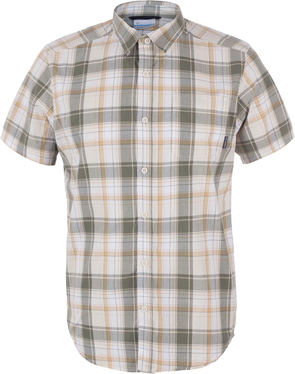 Рубашка мужская Columbia Thompson Hill II Yarn Dye, цвет: серо-бежевый. 1577656-317. Размер M (46/48)