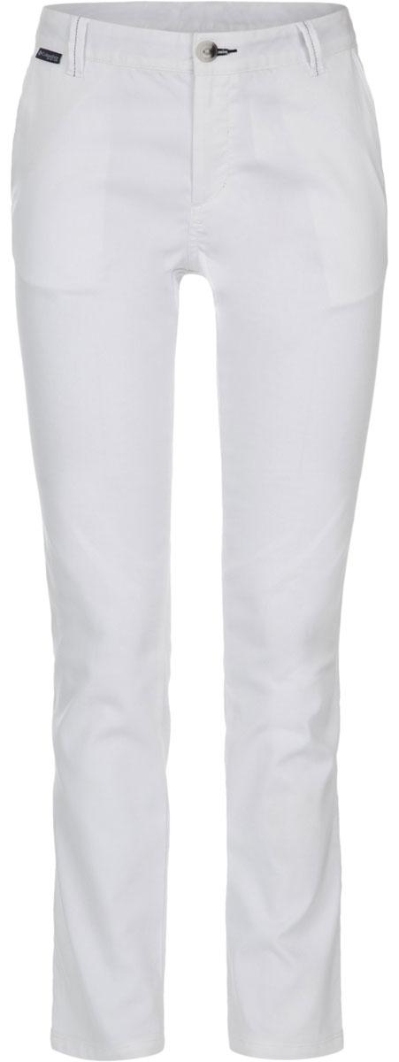 Брюки женские Columbia Harborside Pant, цвет: белый. 1709541-100. Размер 4 (44)1709541-100Стильные женские брюки Columbia Harborside Pant изготовлены из высококачественного материала. Модель прямого покроя с ширинкой на застежке-молнии на талии застегивается на пуговицу и имеет шлевки для ремня. Спереди расположены два боковых втачных кармана.