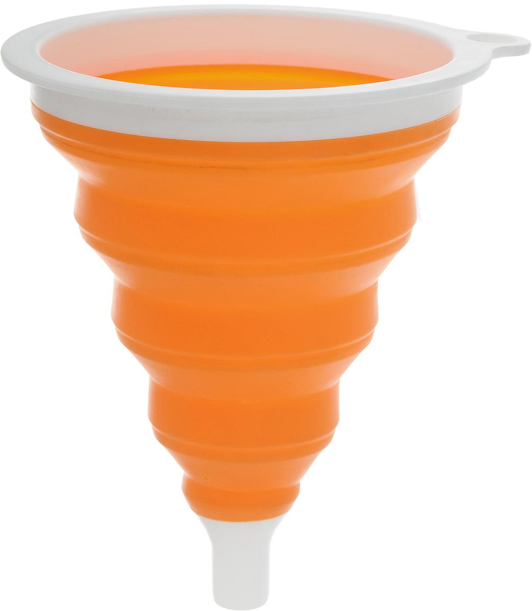 Воронка Oursson, силиконовая, складная, цвет: оранжевый, белый, 12 х 12 х 15 смFU1500SP/MC_оранжевый/белыйВоронка Oursson изготовлена из высококачественного экологически чистого пищевого силикона. Предназначена для переливания как холодных, так и горячих жидкостей, а также для пересыпания сыпучих продуктов - соли, сухих приправ и т.д. Благодаря уникальной складывающейся конструкции подходит под емкости с различным диаметром горлышка и занимает мало места при хранении.Силикон выдерживает температуру от -20°С до +220°С. Можно мыть в посудомоечной машине.Размеры воронки: 12 х 12 х 15 см