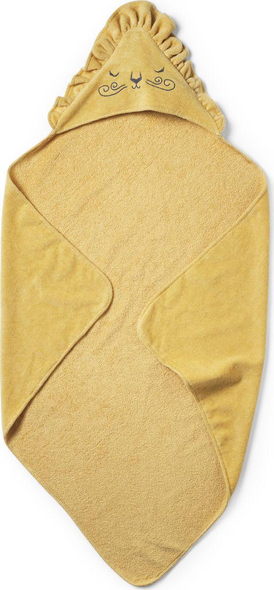 ELODIE DETAILS полотенце с капюшоном после купания Sweet Honey Harry Уютное хлопковое полотенце-уголок сделает купание малыша еще более приятным! Капюшон декорирован оборками и рисунком в виде мордочки льва - характерным мотивом для всей серии Elodie Details Sweet Honey Harry. С внутренней стороны полотенце имеет махровую поверхность, которая отлично впитывает влагу, а с внешней - приятный на ощупь мягкий велюр. Изготовлено из 100% органического хлопка. Хлопок имеет сертификацию GOTS, вырос без использования вредных химических веществ.