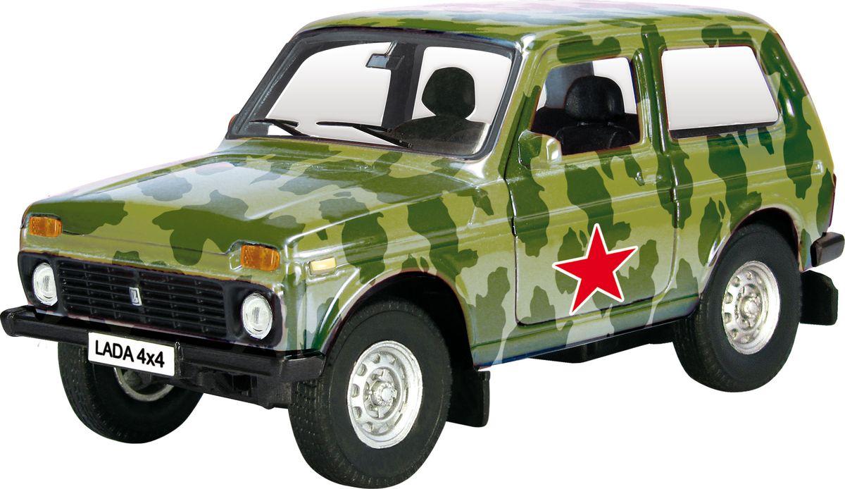Autotime Модель автомобиля Lada 4x4 Армейская машинки autotime машина lada granta армейская