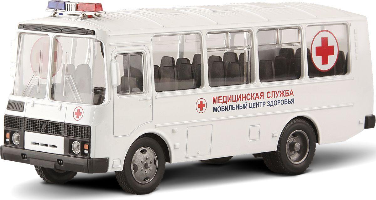 Autotime Модель автобуса ПАЗ-32053 Медицинская служба машина autotime imperial truck series 65137