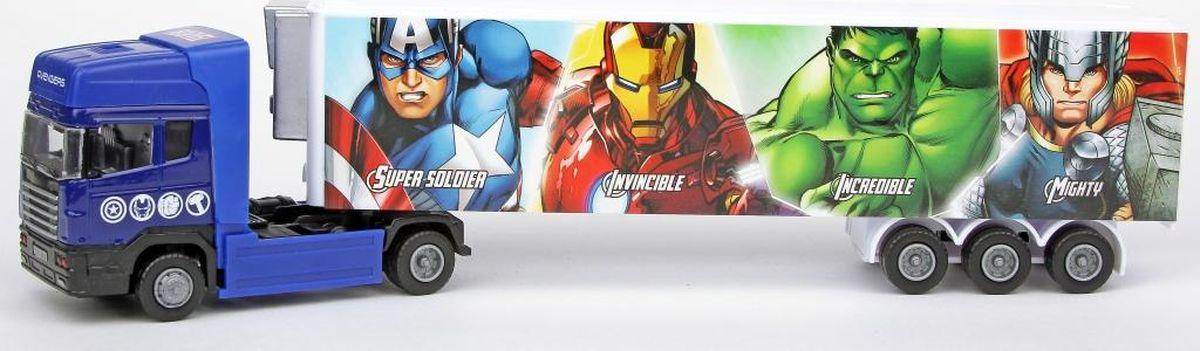 Autotime Машинка Мстители Тягач с полуприцепом седло на тягач jost