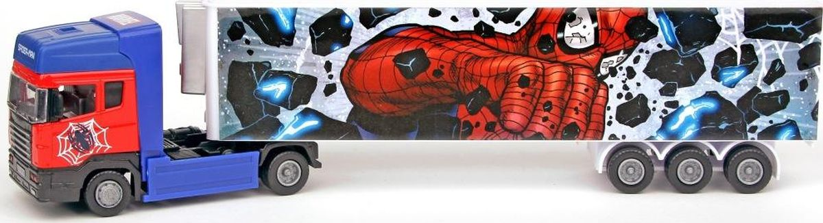 Autotime Машинка Человек-паук Тягач с полуприцепом полуприцеп маз 975800 3010 2012 г в