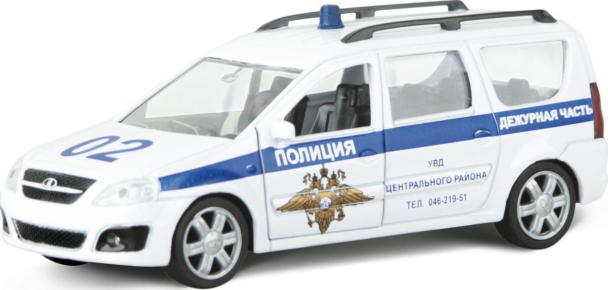Autotime Модель автомобиля Lada Largus Полиция autotime модель автомобиля uaz 39625 мчс россии