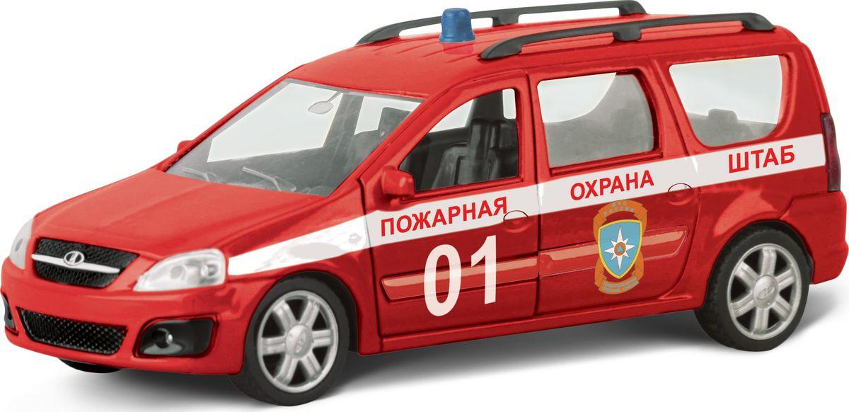 Autotime Модель автомобиля Lada Largus Пожарная Охрана Штаб машинки autotime машина uaz 31514 ваи