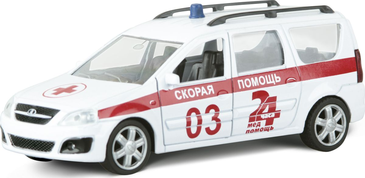 Autotime Модель автомобиля Lada Largus Скорая помощь машинки autotime машина uaz 31514 ваи