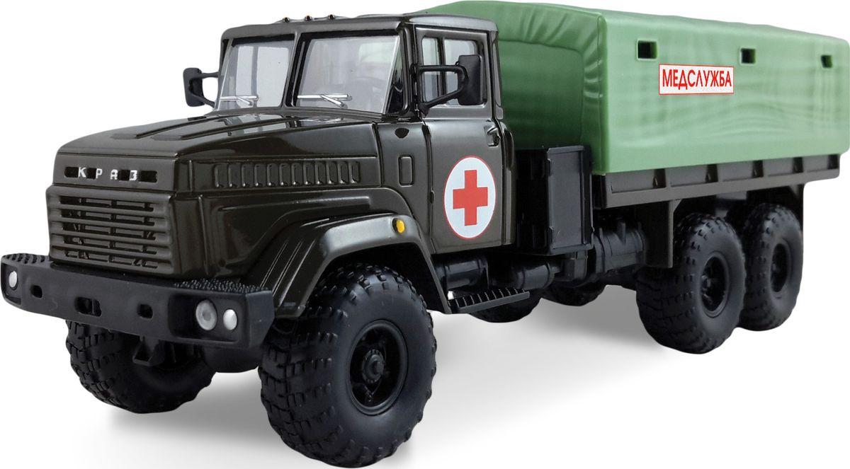 Autotime Модель автомобиля КрАЗ-6322 Медслужба autotime модель автомобиля uaz 39625 дорожные работы