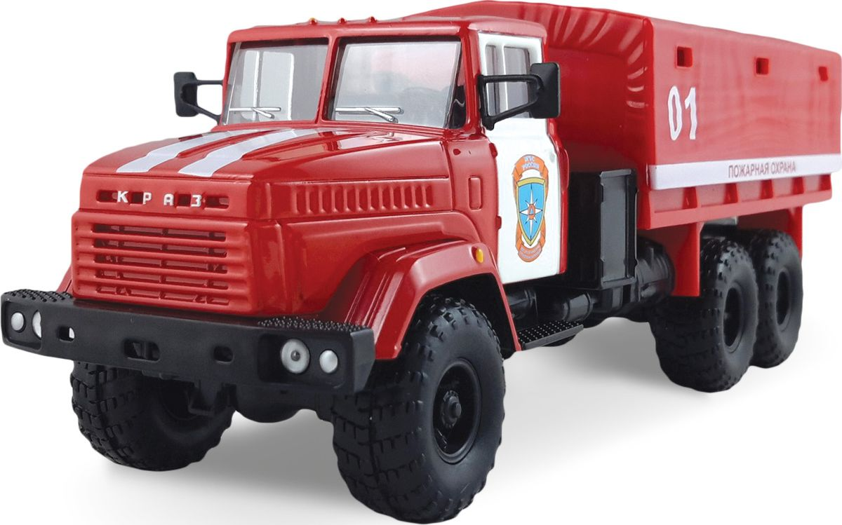 Autotime Модель автомобиля КрАЗ-6322 Пожарная охрана машинки autotime машина uaz 31514 ваи