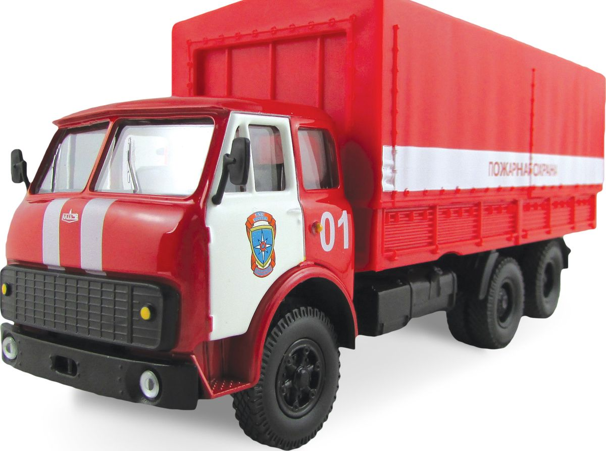 Autotime Модель автомобиля MAZ-516 Пожарная охрана машинки autotime машина lada 111 пожарная охрана