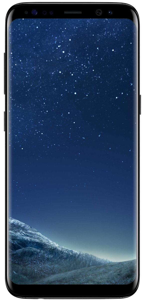 Samsung Galaxy S8 SM-G950, BlackSM-G950FZKDSERSamsung Galaxy S8 переворачивает представление о классическом дизайне смартфона. Безграничный изогнутый с двух сторон экран подчеркивает гармонию стиля и инноваций.Главная особенность дизайна - это практически полное отсутствие боковых рамок и закругленные края экрана. Какую бы из диагоналей 5,8 или 6,2 вы не выбрали - благодаря симметричному дизайну и эргономике им будет удобно пользоваться даже одной рукой.Увеличенный экран Samsung Galaxy S8 идеально подходит для многозадачности. Переписывайтесь с друзьями, не отрываясь от просмотра любимого фильма. Все что нужно - просто открыть чат в режиме многозадачности.Кнопки Домой, Назад и Недавние приложения теперь виртуальные и перенесены на экран. При нажатии они откликаются аналогично классическим, однако имеют более расширенный функционал.Теперь иконки имеют логическую цветовую окраску, так что вы можете идентифицировать приложение в одно мгновение. Цвета и линии выполнены в одном стиле, что очень удобно с точки зрения восприятия.Теперь вы можете делать фотографии, не задумываясь об условиях съемки. Неважно, будет ли это выполнение трюков на скейтборде или задувание свечей на праздничном торте - фотографии, сделанные с помощью Samsung Galaxy S8 всегда будут четкими, яркими и живыми.Снимайте яркие и четкие селфи, где бы вы ни находились. Фронтальная камера (8 Мпикс) оснащена светосильным объективом для идеальных селфи даже ночью, а также поддерживает интеллектуальный автофокус с функцией распознавания лиц.Технология Dual Pixel обеспечивает настолько быструю и безупречную автофокусировку, что можно запечатлеть даже самые резкие движения в условиях недостаточного освещения.Снять фотографии профессионального качества стало возможным с Samsung Galaxy S8. Все, что нужно - проведите влево, активируйте режим Про и настройте камеру в зависимости от ваших задач.Samsung Galaxy S8 гарантирует бескомпромиссную защиту данных. Сканер радужной оболочки глаза будет надежно защищать всю вашу