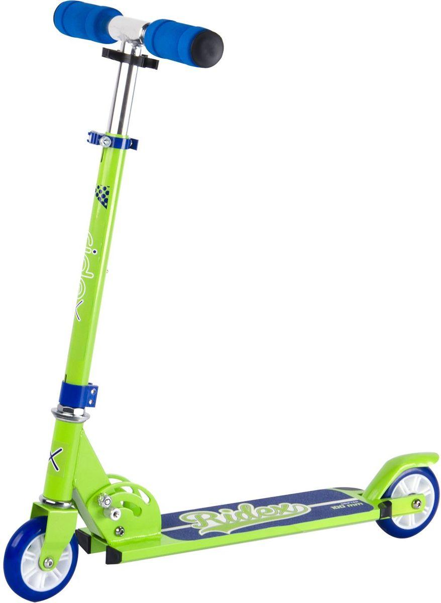 Самокат Ridex Drifter, 2-колесный, цвет: салатовый, синий, 100 мм самокат ridex drifter 100