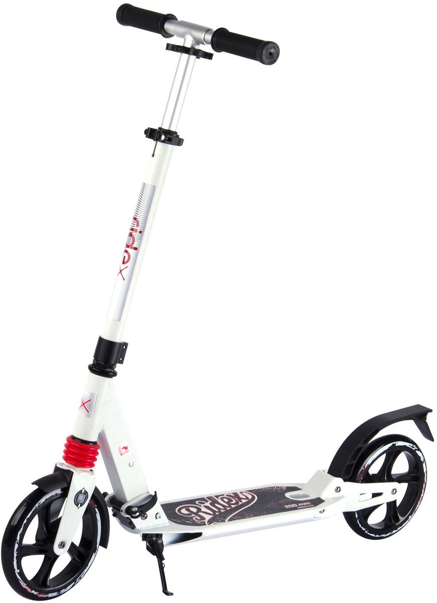 Самокат Ridex Absolute, 2-колесный, цвет: белый, черный, 200 мм лонгборд ridex underground 608z