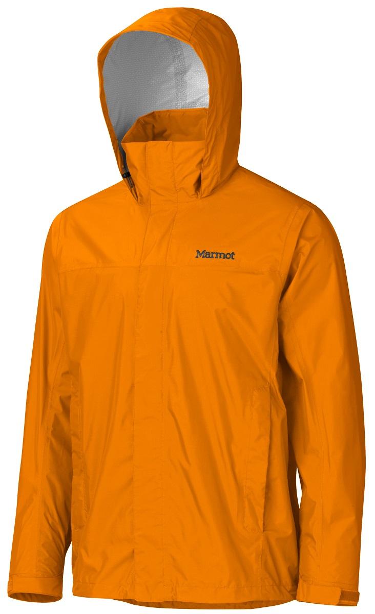 Дождевик мужской Marmot PreCip Jacket, цвет: оранжевый. 41200-9527. Размер L(50/52)41200-9527Дождевик PreCip Jacket - станет Вашей надежной защитой в любую непогоду, где бы Вы не находились: вдали от цивилизации или в городских условиях. Легкий функциональный дождевик на межсезонье. Незаменимая вещь весной, летом и ранней осенью. Технология PreCip™ Dry Touch - водостойкий, дышащий материал, 100% водонепроницаемые швы. Легко упаковывается в собственный карман. Особенности: Технология PreCip™ Dry Touch - водостойкий, дышащий материал, 100% водонепроницаемые швы, капюшон имеет возможность хорошего обзора и при необходимости убирается в воротник|PitZips™ - двусторонние молнии в районе подмышек обеспечивают отличную вентиляцию Pack Pockets™ - полувертикальные нагрудные карманы, которыми удобно пользоваться даже с рюкзаком на спине, двойная штормовая планка на передней молнии с застежкой-липучкой Velcro.
