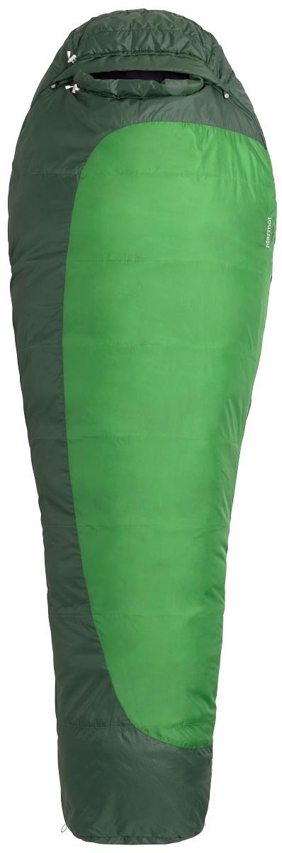 Мешок спальный Marmot Trestles 30, левая молния, цвет: зеленый21180-4724-LZСпальный мешок Marmot Trestles 30 -это надежный спальник с синтетическим утеплителем SpiraFil. Согреет вас даже в условиях повышенной влажности во время путешествий, водных и пеших походов. Спальник прошел европейскую сертификацию EN Test.Он имеет конструкцию Wave - слои утеплителя уложены волнами с перекрытием для максимального сохранения тепла. В этом спальнике не страшна самая суровая непогода.Особенности: - Двусторонние молнии.- 3D-конструкция капюшона.- Трапециевидный отдел для ног для большего комфорта.- Чувствительные шнуры - различимы в темноте на ощупь.- Утягивающий шнур капюшона легко регулируется.- Вторая застежка-молния в верхней части спальника.- Антизакусывающая планка вдоль молнии.- Карман для мелочей - например, часов или батареек.- 2 петли для сушки и для проветривания спальника.- Двусторонние молнии - для вентиляции и состегивания спальников. - Двусторонние ползунки на молниях позволяют использовать их как вне, так и снаружи спальника.- Валик вокруг лица без липучки - для большего комфорта.- Молния защищена от «закусывания».В комплекте компрессионный чехол.Утеплитель: Spirafil 120.Внешний материал: полиэстер.Внутренний материал: полиэстер.Вес: 1446 г.