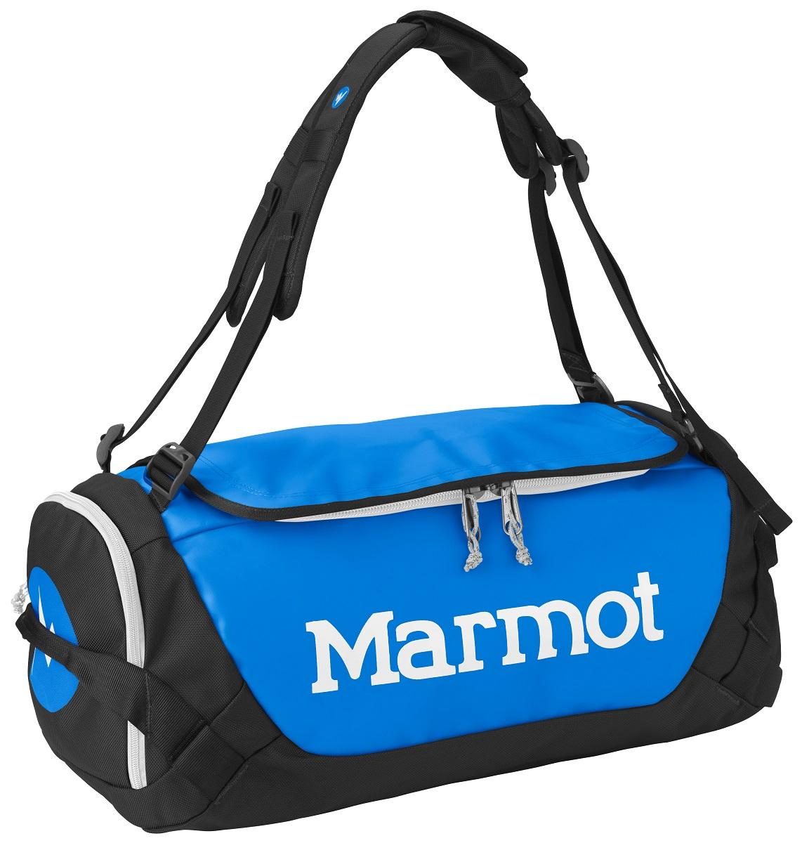 Сумка дорожная Marmot Long Hauler Duffle Bag Small, цвет: синий, 38 л26260-2764-SПрочная дорожная сумка Marmot Long Hauler Duffel Bag Large имеет возможность переноски в виде рюкзака. Выполнена из нейлона и полиэстера. Сумка оснащена ремнем через плечо, и ручками для переноски.Особенности:- D-образная верхняя молния с с водозащитной планкой..- Съемные плечевые лямки трансформируются в ручки для переноски.- Торцевой карман на молнии для мелочей.- Внутренние карманы.- Двойной слой ткани на дне для износостойкости.- Петли для переноски расположены с обеих сторон.