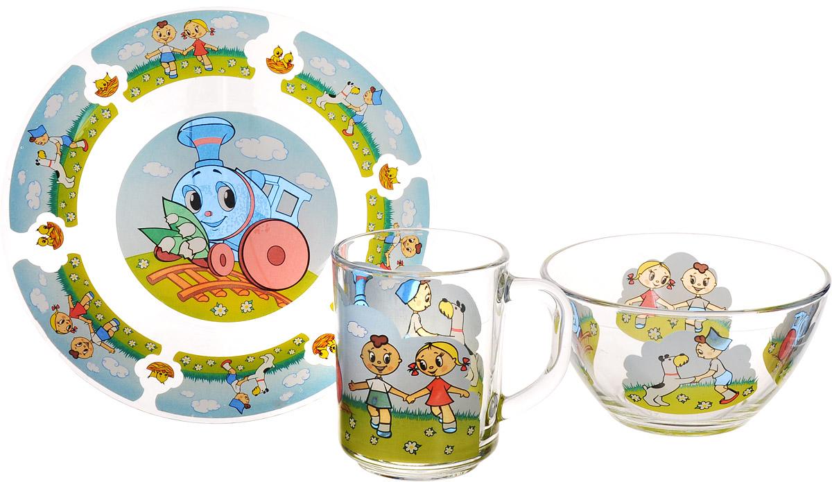 Союзмультфильм Набор детской посуды Паровозик из Ромашково 3 предмета