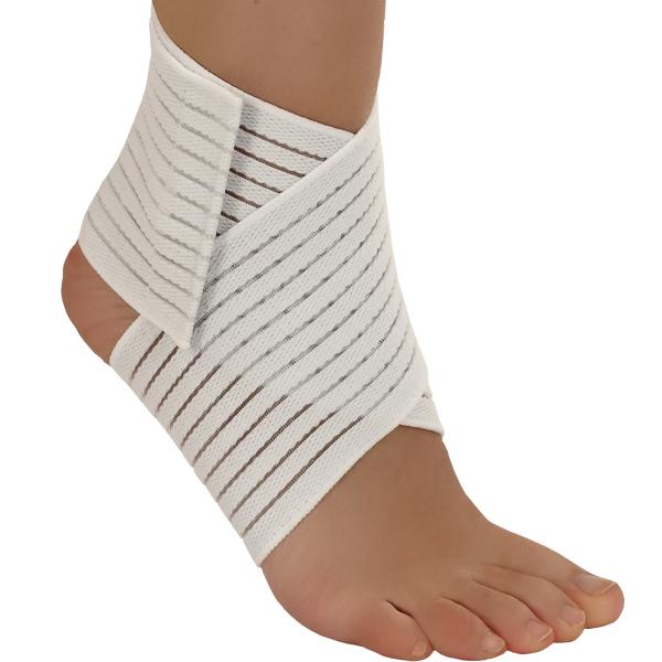 Бинт Tonus Elast, голеностопный, ленточный. Размер 20005/2Предназначен для лечения и профилактики травм, вывихов, растяжений, отеков, а также для защиты и эластичной фиксации сустава. C застежкой velcro