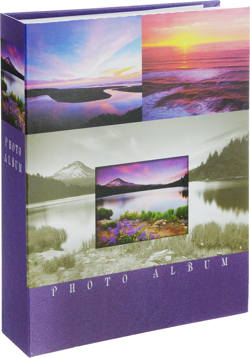 Фотоальбом Platinum Ландшафт - 2, 200 фотографий, 10 х 15 см. 22226-222226-2_фиолетовыйФотоальбом Platinum Ландшафт - 2 поможет красиво оформить ваши фотографии. Обложка выполнена из толстого картона и декорирована красочным изображением ландшафта. Внутри содержится блок из 50 листов с фиксаторами-окошками из полипропилена. Альбом рассчитан на 200 фотографий формата 10 х 15 см (по 2 фотографии на странице). Нам всегда так приятно вспоминать о самых счастливых моментах жизни, запечатленных на фотографиях. Поэтому фотоальбом является универсальным подарком к любому празднику. Количество листов: 50.