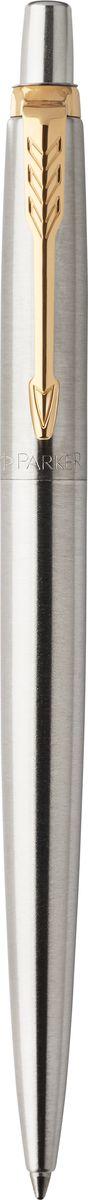 Parker Ручка шариковая JOTTER Stainless Steel GTPARKER-1953182Шариковая ручка Parker Jotter Stainless Steel GT выполнена в серебристом цвете из нержавеющей стали, а декоративные элементы выполнены в позолоченном цвете. Способ подачи стержня: кнопочный.Марка Parker гарантирует полную уверенность в превосходном качестве товара. Ручка Parker Jotter Royal будет не только долго служить, но и неизменно радовать удобством и легкостью письма, надежностью в эксплуатации и прекрасным эстетическим исполнением.
