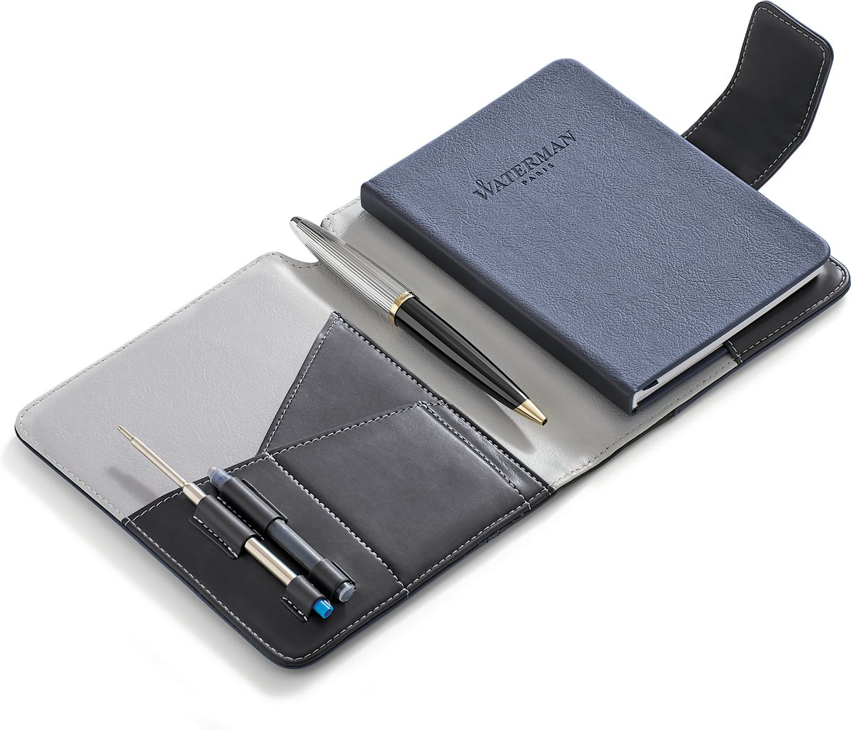 Waterman Шариковая ручка Carene Deluxe Black GT с блокнотом waterman шариковая ручка waterman s0920670
