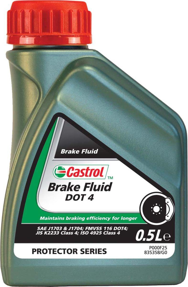 Жидкость тормозная Castrol Brake Fluid DOT 4, 500 мл155BD0Castrol Brake Fluid DOT 4 - высококипящая тормозная жидкость, превышающая требования спецификаций SAE J1703,SAE J1704, FMVSS 116 DOT 4 , ISO 4925 и Jis K 2233. Castrol Brake Fluid DOT 4 предназначена для применения во всех тормозных системах, в особенности часто подвергающимся высоким нагрузкам.Продукт состоит из смеси полиалкиленгликолевых эфиров и борсодержащих сложных эфиров в сочетании с высокоэффективными присадками и ингибиторами, обеспечивающими превосходную защиту от коррозии и перпятствующими образованию паровых пробок при высокой температуре. Композиция жидкости разработана так, что температура кипения этой жидкости достигает гораздо более высоких значений по сравнению с традиционными тормозными жидкостями на основе эфиров гликолей в течение периода использования продукта. Castrol Brake Fluid DOT 4 полностью совместима с другими жидкостями соответствующими спецификациям FMVSS 116 DOT 3, DOT 4 и DOT 5.1. Тем не менее, для того, чтобы сохранить исключительные эксплуатационные характеристики этого продукта, избегайте смешения с другими тормозными жидкостями. Все обычные тормозные жидкости разрушаются во время использования. Настоятельно рекомендуется менять Castrol Brake Fluid DOT 4 в соответствии с предписаниями производителей техники. В случае отсутствия предписаний, жидкость рекомендуется менять раз в 2 года.Тормозная жидкость Castrol Brake Fluid DOT 4 не должна использоваться в тормозных системах, в которых предписаны жидкости на минеральной основе. Как и со всеми тормозными жидкостями, содержащими гликолевые эфиры, будьте осторожны и избегайте пролива этого продукта на окрашенную поверхность, так как это может привести к повреждению краски. В случае проливанемедленно промойте водой зону поражения. Не вытирать.Спецификации.JASO JIS K2233,SAE J1703J1704,4925 Class 4,FMVSS DOT 4.Товар сертифицирован.