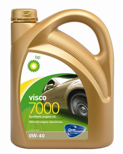 Моторное масло BP Visco 7000 0W-40 4, 4 л15805BОписаниеМоторные масла BP Visco CleanGuard™ препятствуют образованию отложений в двигателе, обеспечивая его бесперебойную работу. Система Clean Guard™ защищает двигатель и дольше поддерживает его в чистоте.Чистый двигатель прослужит дольше и будет работать более эффективно.В условиях повседневной эксплуатации автомобиля в двигателе скапливаются продукты сгорания. Если эти примеси своевременно не удалить, они будут образовывать отложения, которые зачастую становятся главной причиной снижения эффективности работы двигателя и его поломок. Моторные масла BP Visco CleanGuard™ содержат особые компоненты, которые предотвращают образование вредных отложений на стенках рабочих поверхностей двигателя.ПрименениеМоторное масло BP Visco 7000 0W-40 предназначено для бензиновых и дизельных двигателей автомобилей, где производитель рекомендует смазочные материалы, соответствующие классу вязкости SAE 0W-40 и спецификациям ACEA C2, C3, API SM/CF или более ранним.Visco 7000 0W-40 одобрено к применению широким спектром производителей автомобильной техники, включая ДВС укомплектованные дизельным сажевым фильтром (см. раздел спецификаций и руководство по эксплуатации автомобиля).ПреимуществаBP Visco 7000 0W-40 – полностью синтетическое моторное масло наивысшего класса, обеспечивающее:• превосходную чистоту двигателя;• повышенную защиту деталей в тяжёлых условиях эксплуатации;• увеличенный ресурс современных систем очистки отработавших газов;• пониженное образование вредных веществ в выхлопных газах;• повышенную экономию топлива.СпецификацииACEA C2, C3API SM/CFBMW Longlife-04MB-Approval 229.31/ 229.51