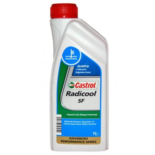 Антифриз Castrol Radicool SF, 1 л, G12+155FA2Castrol Radicool SF - концентрат охлаждающей жидкости с увеличенными интервалами замены на основе моноэтиленгликоля и передовой карбоксилатной технологии. В отличие от традиционных низкозамерзающих охлаждающих жидкостей, Castrol Radicool SF не содержит аминов, нитритов, фосфатов, силикатов или других неорганических ингибиторов коррозии. Castrol Radicool SF обеспечивает превосходную защиту от коррозии, особенно двигателей выполненных из легких металлов. Предназначен для применения в бензиновых и дизельных двигателях широкого ряда транспортных средств, включая легковые и грузовые автомобили, автобусы, что позволяет использовать его в смешанных парках техники. Castrol Radicool SF обеспечивает эффективное охлаждение двигателя в широком диапазоне рабочих температур во всех климатических условиях. Применение. Специально подобранный пакет присадок Castrol Radicool SF даёт возможность использовать его с увеличенными интервалами замены, обеспечивая отличную защиту против коррозии, закупорки системы охлаждения, перегрева и замерзания. В особенности подходит для двигателей компоненты которых выполнены из чугуна, алюминия, меди или сплавов этих металлов, используемых современном двигателестроении. Также совместим со всеми резиновыми шлангами, сальниками и уплотнениями в системе охлаждения.Castrol Radicool SF обладает длительным эксплуатационным ресурсом, что обеспечивает увеличенные интервалы замены свыше 3-х лет. Продлённые интервалы замены способствуют сокращению расходов на обслуживание техники и снижению вероятности причинения вреда окружающей среде. Castrol Radicool SF обеспечивает превосходную защиту от кавитационной коррозии и эффективное смазывание водяного насоса, снижая износ и шум.Технология присадок, используемая в Castrol Radicool SF, предотвращает образование отложений кальция (накипи) от использования жёсткой воды, таким образом снижая вероятность блокировки радиатора и ограничения свободного течения охлаждающей жидкос