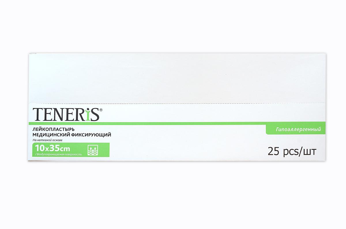 Teneris Раневая (послеоперационная) стерильная повязка на нетканной основе T-Pore, 65 х 405 х 145 мм, 25 шт