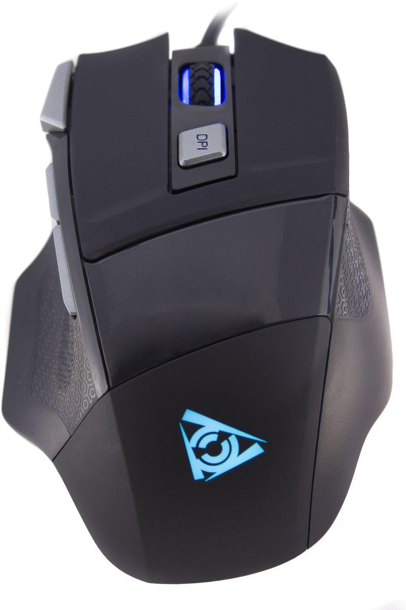 Qcyber Cane игровая лазерная мышьQC-02-005DV01Мышь Qcyber Cane легко настроить для любых игровых жанров. Разрешение сенсора Avago 5050 устанавливается в диапазоне от 800 dpi (сверхточное позиционирование) до 3500 dpi (чуткое реагирование на минимальное движение кисти). Шаг настройки чувствительности 500 dpi позволит установить оптимальный баланс скорости и точности для полного контроля над игровой ситуацией.В вашем распоряжении 6 программируемых кнопок для молниеносного выполнения действий в один клик.Назначайте каждой из них любые игровые действия, которые вам необходимы. Создавайте эффективные комбинации и получайте внушительное превосходство над противником в скорости исполнения своих решений.Элегантный, лаконичный дизайн мыши Qcyber Cane подчеркивает ее техническое совершенство. Подсветка скролла и эмблемы – единственные детали, которые ненавязчиво выделяют ее в игровом окружении. Но даже такая мелочь поддается настройке – для подсветки можно выбрать любой цвет на ваш вкус.С покрытием корпуса Soft Touch даже в ходе многочасового противостояния мышь Qcyber Cane комфортно лежит в руке и дает уверенность в каждом движении. Технологичный рельеф боковых поверхностей предотвращает выскальзывание мыши и оставляет приятное ощущение. Получите от игры максимум удовольствия!Qcyber Cane – боевая мышь, рассчитанная на жесткое обращение в самых хардкорных битвах. Внушительный ресурс переключателей в 20000000 нажатий минимум не оставляет сомнений в ее долговечности.Как выбрать игровую мышь. Статья OZON Гид