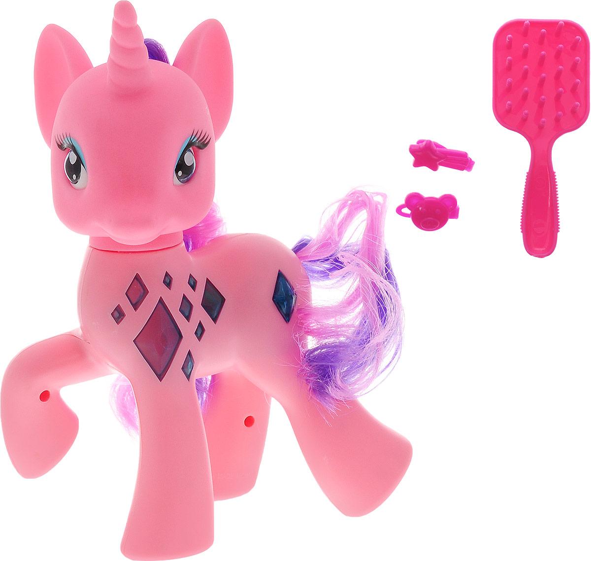 Карапуз Игровой набор Пони озвученный цвет розовый книги питер комплект лошадки и пони из ткани и трикотажа куколки модная одежда для текстил куклы