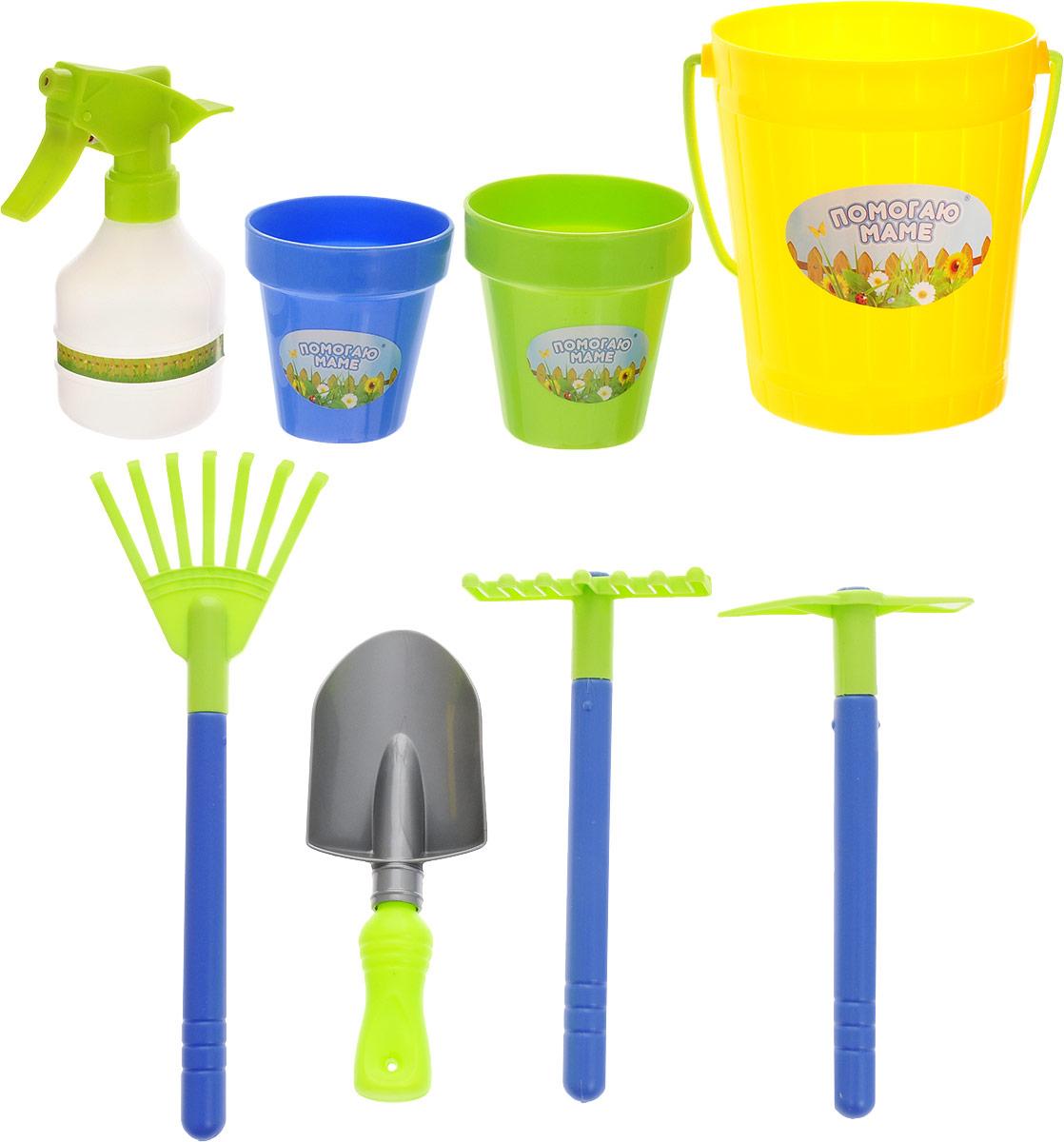 Abtoys Набор для юного садовода Помогаю Маме цвет желтый 8 предметов набор садовода купить