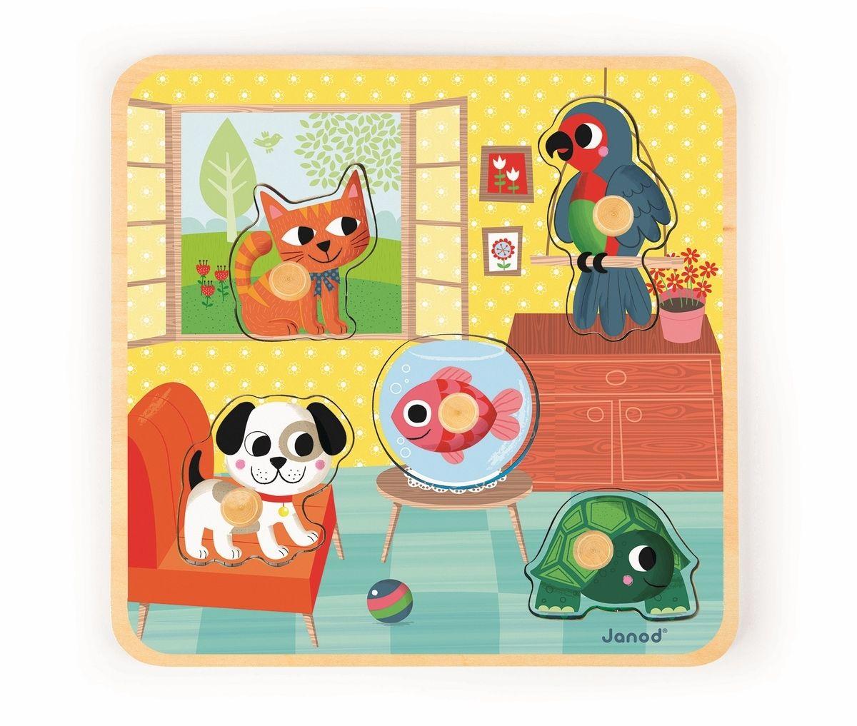 Janod Пазл для малышей Домашние животные J07068