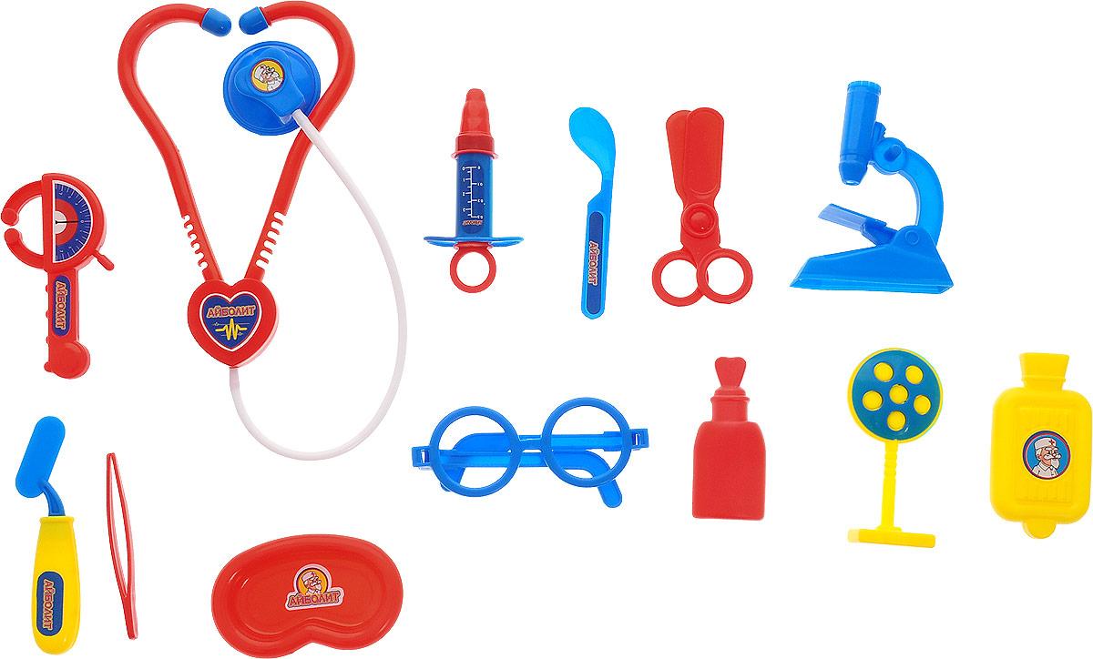Играем вместе Набор Доктор Айболит 14 предметов играем вместе игрушка пластм набор посуды принцессы дисней 14 предметов играем вместе
