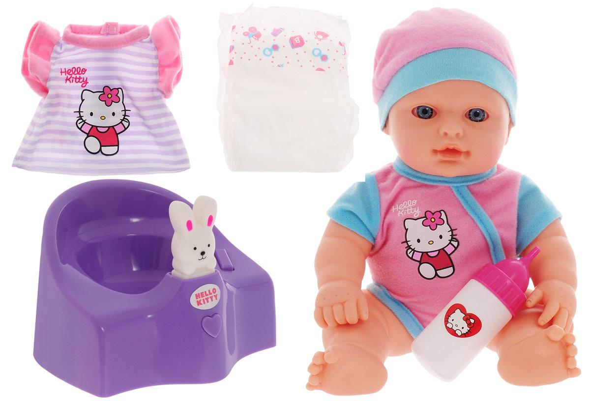 Карапуз Пупс Hello Kitty цвет горшка фиолетовый