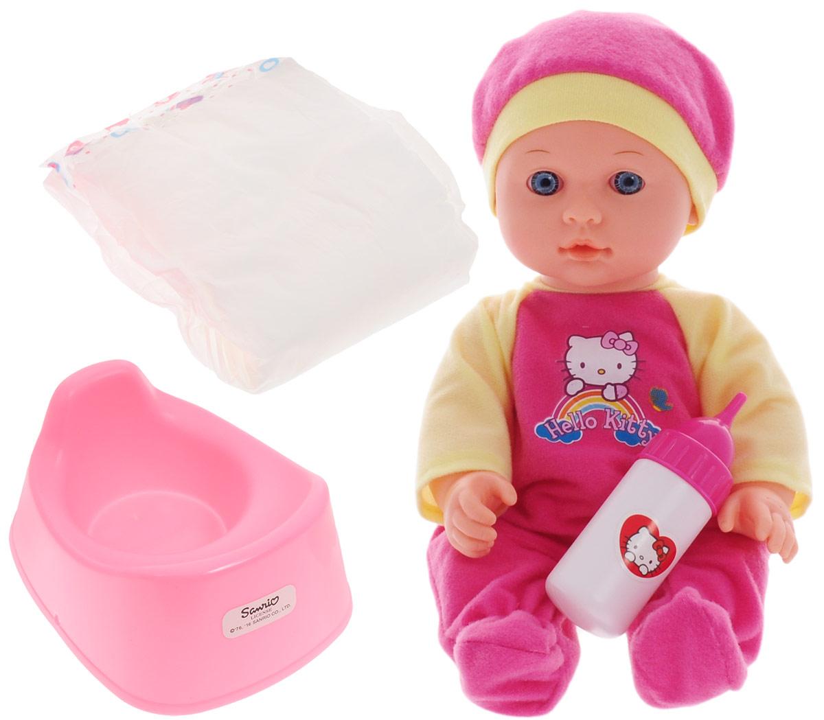 Карапуз Пупс Hello Kitty цвет одежды розовый желтый