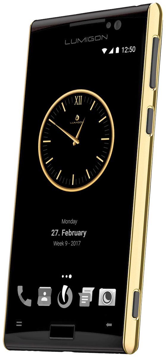 Lumigon T3 Exclusive, Gold Black5711860000257Премиальный смартфон Lumigon T3 изготовлен из корабельной нержавеющей стали 316, 24-каратного золота и ударопрочного стекла Corning Gorilla Glass 4.Каждая уникальная функция была создана для удовлетворения реальных каждодневных потребностей. Каждая черта дизайна и выбор материала тщательно продумывается для того, чтобы служить практическим целям.Замечательная камера 13MP/4K камера с двухтонной вспышкой и очень быстродействующей технологией PDAF (система фазовой автофокусировки / Phase Detection Autofocus). Специальная кнопка для камеры сбоку обеспечивает быстрый доступ к камере, при этом кнопки громкости могут использоваться для уменьшения и увеличения.Контролируемый жестами дисплей BackTouch может использоваться для пролистывания фотографий и прокрутки веб-сайтов. Использование интегрированной камеры с технологией BackTouch является очень удобным для того, чтобы делать селфи.Клавиша действия ActionKey может быть настроена для включения / выключения вспышки, открывания приложений и т.д. Действия могут выполняться путем как короткого, так и длинного нажатия. Клавиша действия ActionKey может использоваться, даже если экран выключен.Хранилище Vault является уникальным приложением Lumigon, благодаря которому изображения, контакты, конфиденциальные уведомления, PIN-коды, приложения и т.д. могут храниться и оставаться защищенными, если вы не хотите, чтобы другие получили доступ к вашим конфиденциальным данным.T3 является первым смартфоном в мире, оснащенным камерой ночного видения. Он позволяет делать все виды ночных записей и запечатлеть предметы, которые невидимы в темноте.В T3 имеется фронтальная камера 5MP/2K, которая оснащена вспышкой, позволяющей делать четкие селфи, совершать видео-звонки или использовать приложение Mirror (Зеркало) даже в условиях темноты.За счет инфракрасного приемника и передатчика телефон может использоваться в качестве пульта дистанционного управления для телевизора, воспроизведения аудио, видео и т