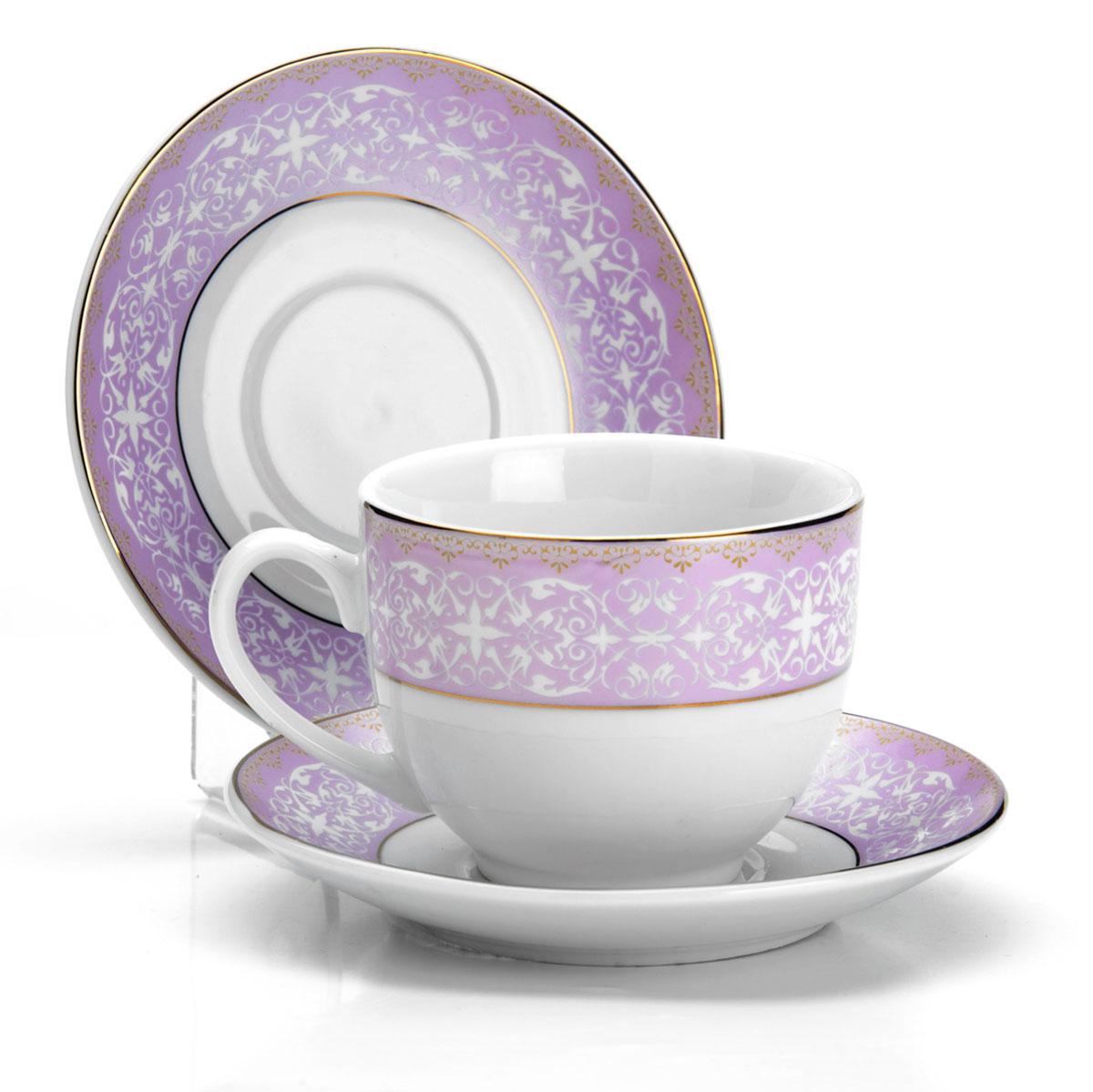 Набор чайный Loraine, 12 предметов. 2589925899Чайный набор состоит из 6 чашек и 6 блюдец, выполненных из фарфора.Диаметр чашки: 8,5 см.Высота чашки: 7,5 см.Объем чашки: 220 мл.Диаметр блюдца: 14 см.