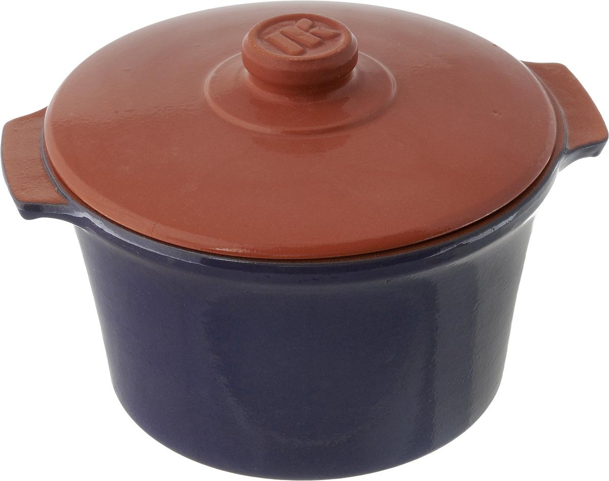 Кастрюля керамическая Ломоносовская керамика Огонек с крышкой, цвет: синий, 3 л1КТс-3Кастрюля Ломоносовская керамика Огонек выполнена из высококачественной термостойкой керамики. Покрытие абсолютно безопасно для здоровья, не содержит вредных веществ. Кастрюля оснащена удобными боковыми ручками и керамической крышкой. Она плотно прилегает к краям посуды, сохраняя аромат блюд.Кастрюля предназначена для использования на всех типах плит. Для использования на индукционных плитах требуется специальный диск. Благодаря термостойкости материала, кастрюлю можно использовать в духовке и СВЧ. Разрешено мыть в посудомоечной машине. Внутренний диаметр: 20,5 см.Внешний диаметр: 21,5 см.Высота стенки: 12,5 см.Толщина стенки: 7 мм.Диаметр дна: 16,5 см, Ширина кастрюли (с учетом ручек): 25,5 см.Диаметр крышки: 21 см.