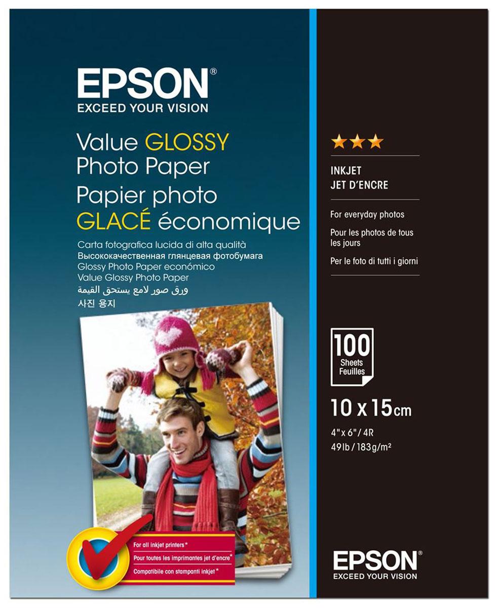 Epson C13S400039 Value Glossy фотобумага 10x15, 100 листов фотобумага epson s041765