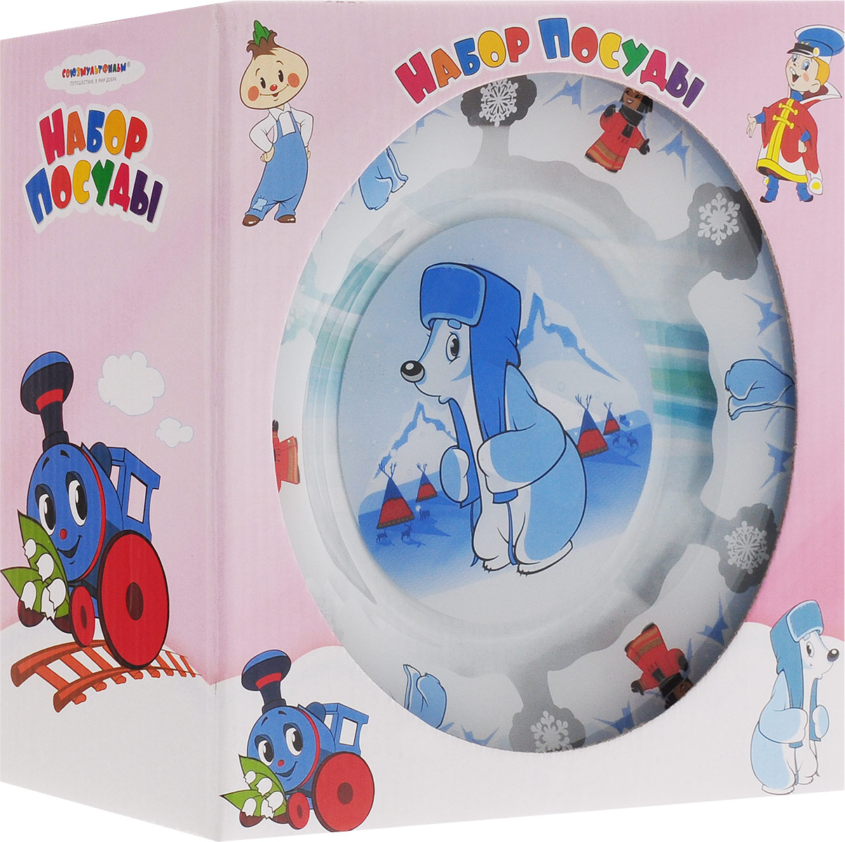 Союзмультфильм Набор детской посуды Умка 3 предмета Союзмультфильм