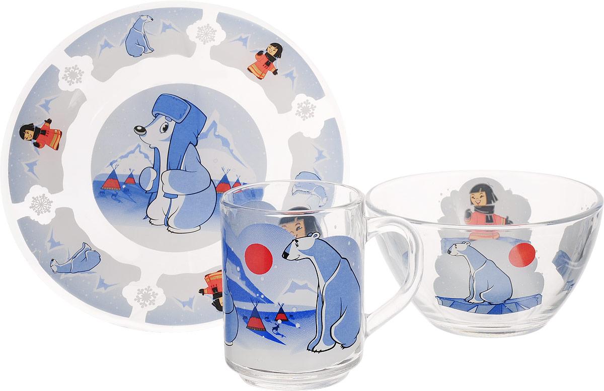 Союзмультфильм Набор детской посуды Умка 3 предмета