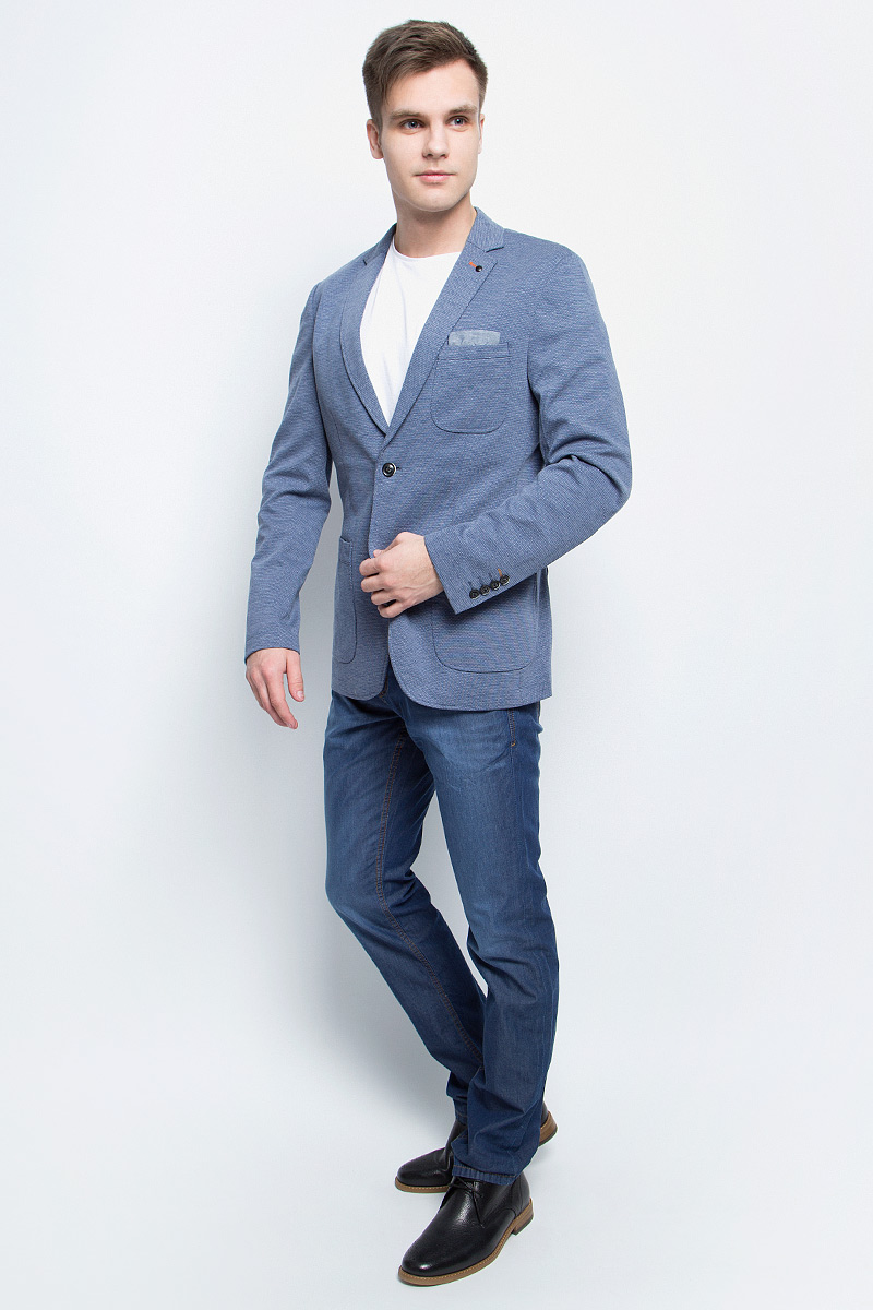 Пиджак мужской Tom Tailor, цвет: синий. 3922899.00.10_6876. Размер 48