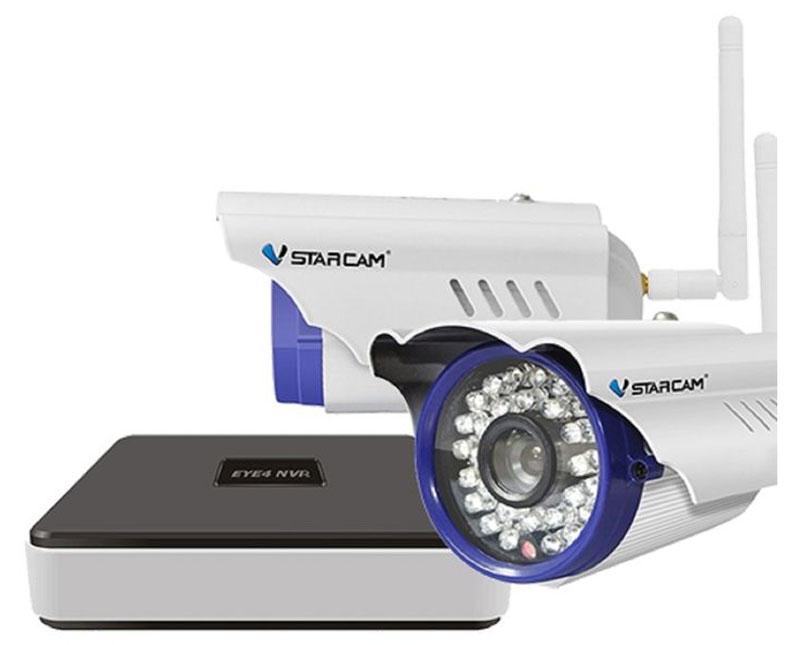 Vstarcam NVR C15 KIT система видеонаблюдения1600000360785Vstarcam NVR C15 KIT - готовый уличный комплект для видеонаблюдения.Камеры отлично подходят для слежения за на открытым пространством и обеспечивает высокий уровень детализации изображения без задержек и потерь. Инфракрасная подсветка помогает производить качественную съёмку на расстоянии до 15 метров при слабой освещённости или даже при полном её отсутствии.Четырехканальный IP видеорегистратор Vstarcam N400 предназначен для записи видео с камер Vstarcam C серии (и других камер по протоколу Onvif и RTSP) в высоком разрешении на жесткий диск (HDD) объемом до 6 ТБ.Регистратор поддерживает все современные возможности доступа к видео в реальном времени и архиву. Например, просмотр локально на подключенном мониторе или по сети Интернет.Нет необходимости использовать статический IP-адрес. Вы экономите на абонентской плате, благодаря уникальной технологии Р2Р.Для просмотре изображения на ПК реализован веб-интерфейс, а для мобильных устройств соответствующее программное обеспечение EYE4, доступное для бесплатного скачивания.Запись архива на карту памяти: Micro SD объем до 64 ГБ, класс 10Сжатие: кодек H.264