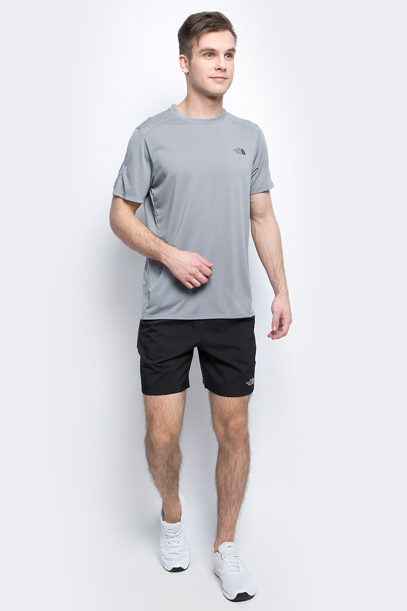 Футболка мужская The North Face M Versitas S/S Crew, цвет: серый. T92V3NV3T. Размер S (48) - Бег