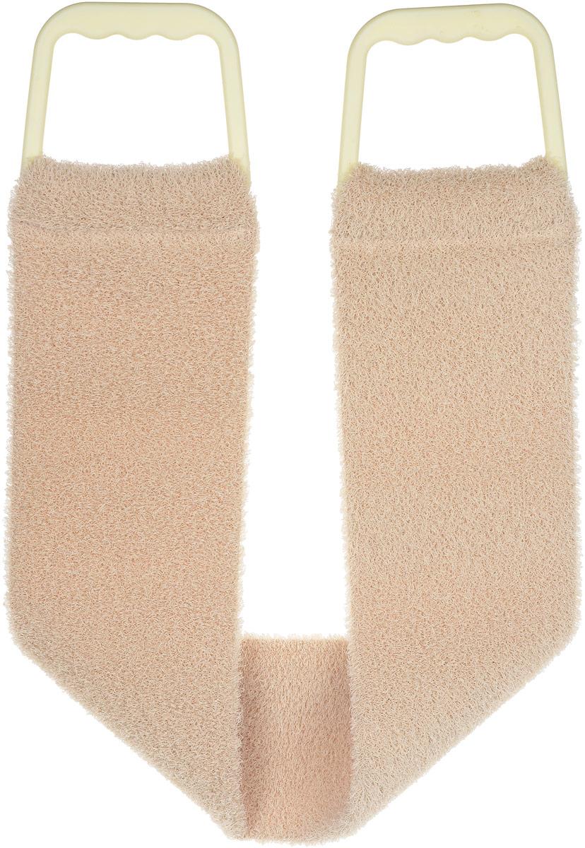 Riffi Мочалка-пояс, массажная, жесткая, цвет: бежевый мочалка варежка массажная riffi для спортивного массажа цвет бежевый