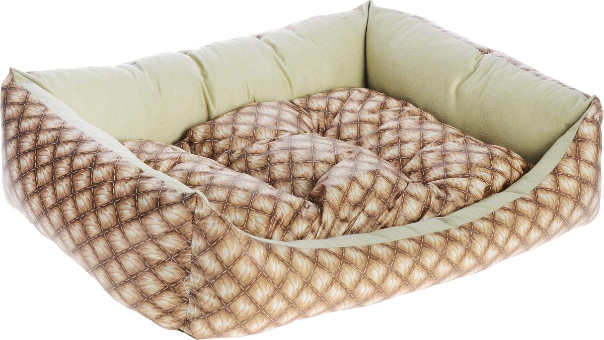 Лежак для собак Happy Puppy Шотландия-3, 57 x 44 x 15 смHP-170008-3Мягкий лежак Happy Puppy Ампир-3 обязательно понравится вашему питомцу. Он выполнен извысококачественного хлопка и полиэстера с водоотталкивающей пропиткой, а наполнитель - из мягкого холлофайбера. Такой материал нетеряет своей формы долгое время.Лежак оснащен мягкой съемной подстилкой. Высокие бортики обеспечат вашему любимцу уют. За изделием легко ухаживать, его можно стирать вручную. Мягкий лежак станет излюбленным местом вашего питомца, подарит ему спокойный икомфортный сон, а также убережет вашу мебель от шерсти. Размер: 57 x 44 x 15 см.