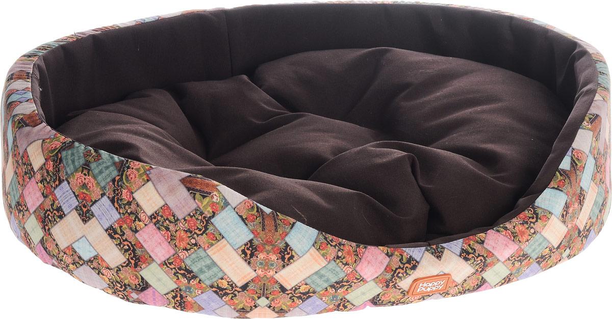 Лежак для собак Happy Puppy Лукоморье-4, 64 x 49 x 15 см. HP-160067-4 домик для собак happy puppy классик 37 x 37 x 40 см