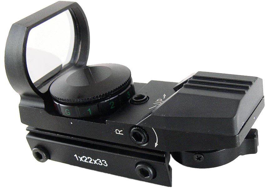 Прицел коллиматорный Target Optic 1 x 33, открытый на планку 11 мм, со сменной маркой прицел коллиматорный utg leapers new gen 1x30 закрытый