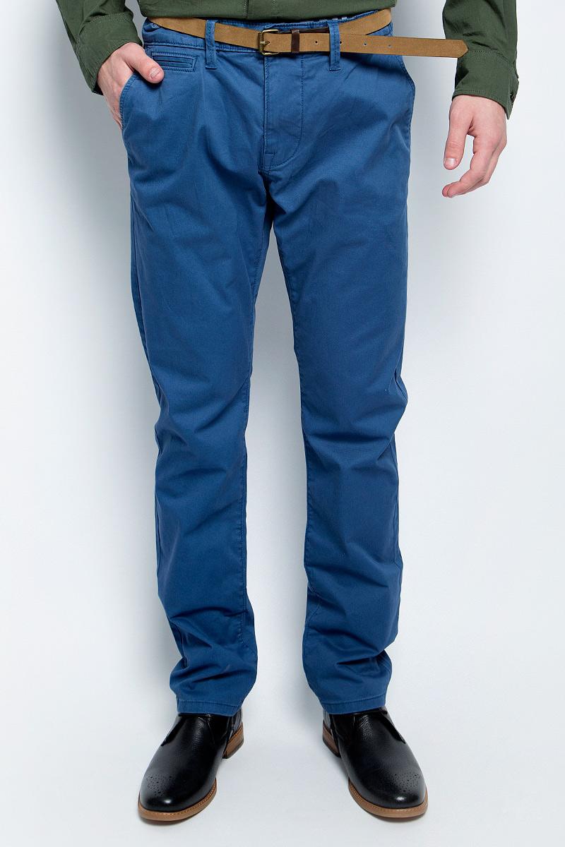 Брюки мужские Tom Tailor, цвет: синий. 6404787.00.10_6865. Размер 29-32 (44/46-32) брюки мужские tom tailor цвет зеленый 6855008 00 12 7807 размер l 50